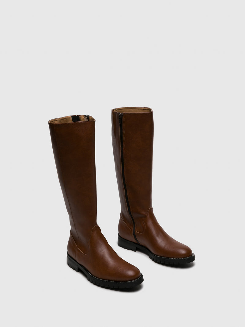 NAE Vegan Shoes Brown Knee-High Boots