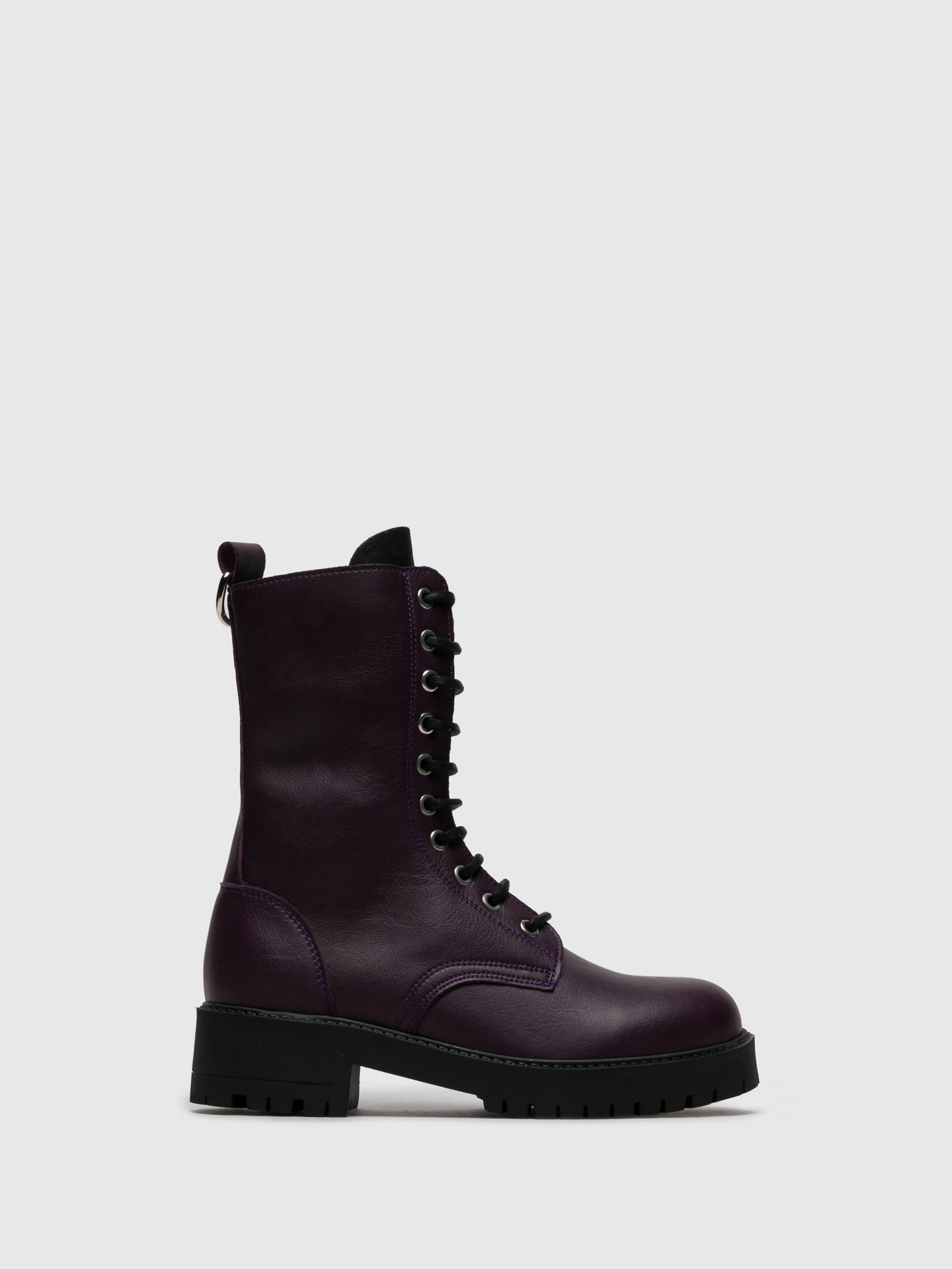 NAE Purple Zip Up Boots