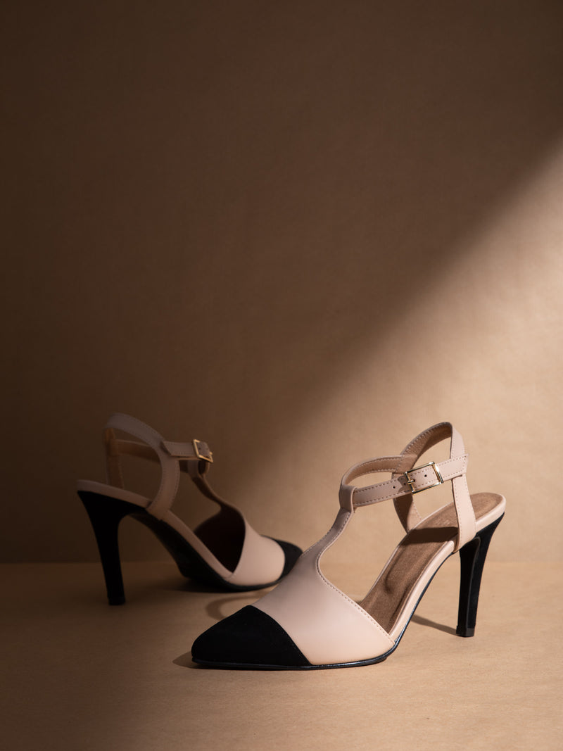 Beige Stiletto Shoes
