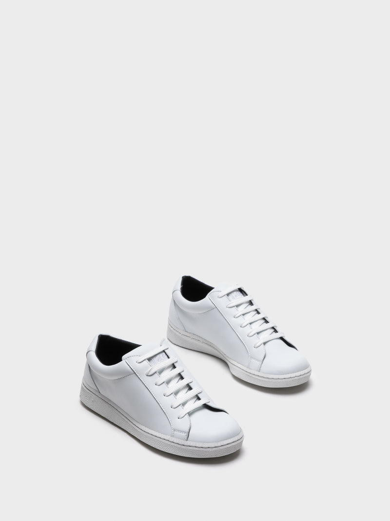 NAE White Lace-up Trainers