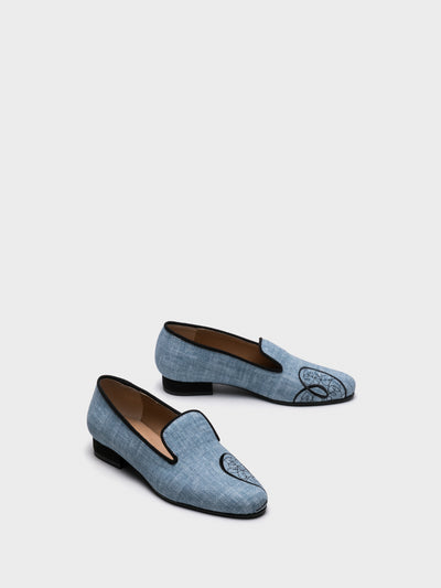 NAE Vegan Shoes Blue Loafers Shoes