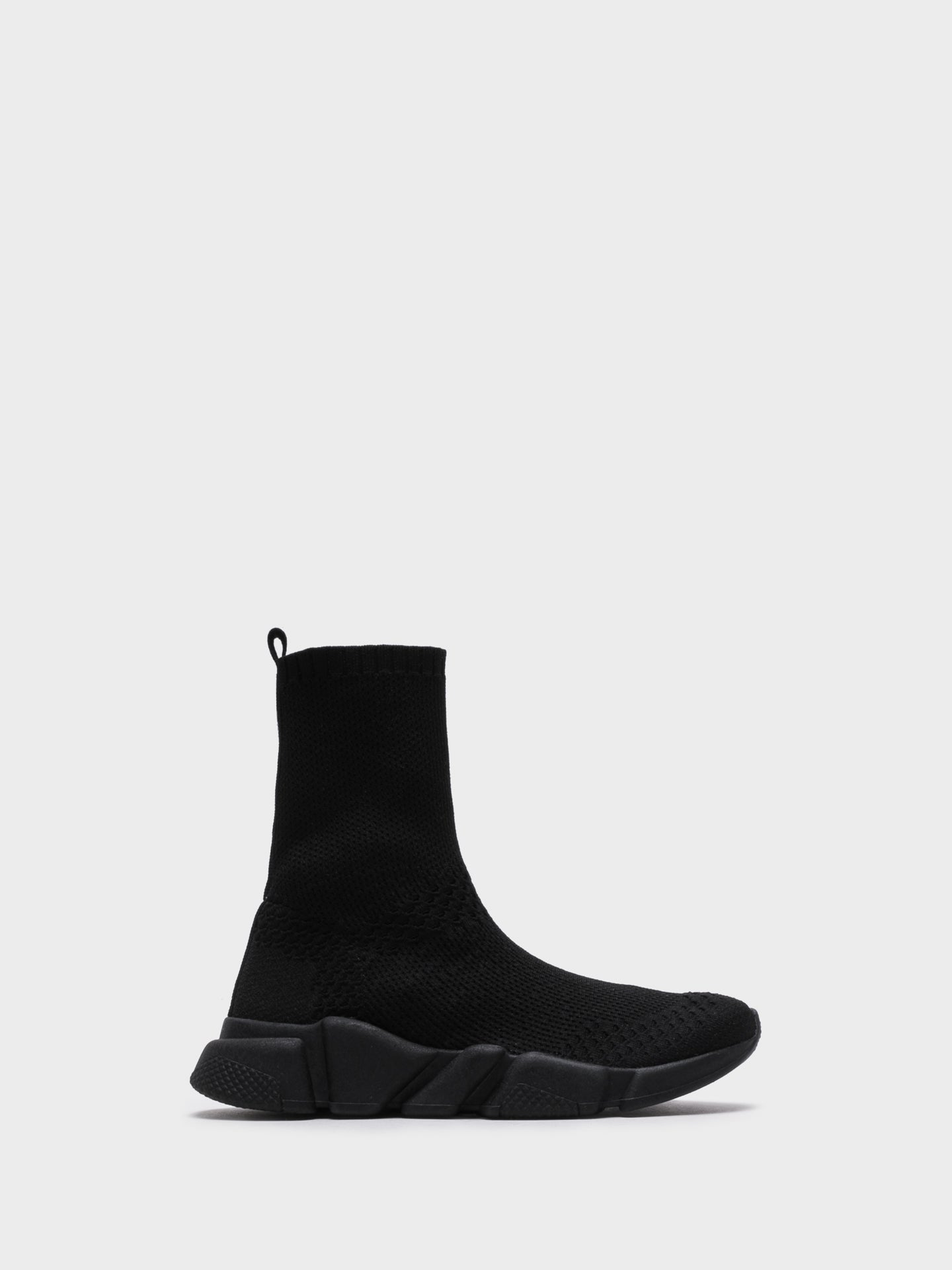 NAE Vegan Shoes Black Hi-Top Trainers