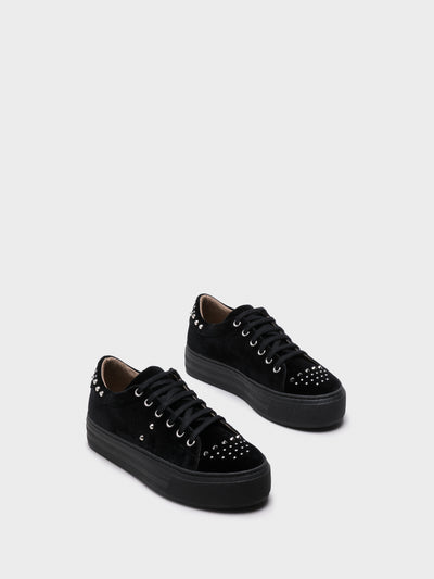 NAE Black Platform Trainers