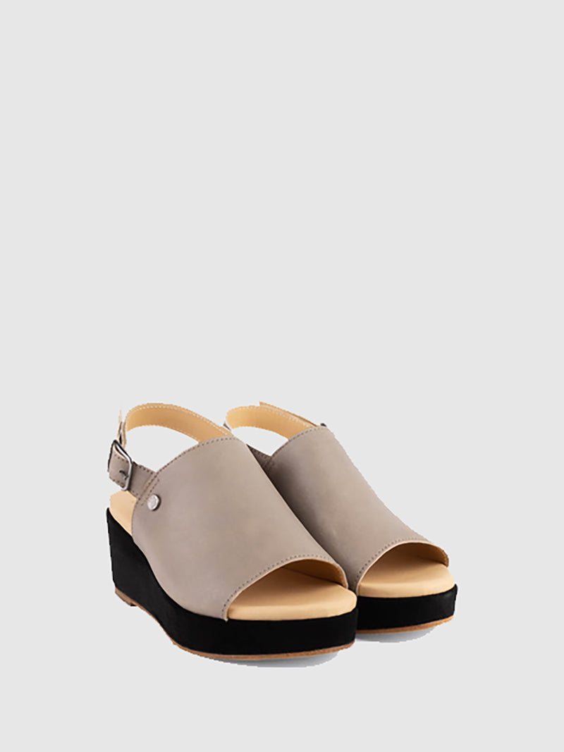 Only2me Gray Wedge Sandals