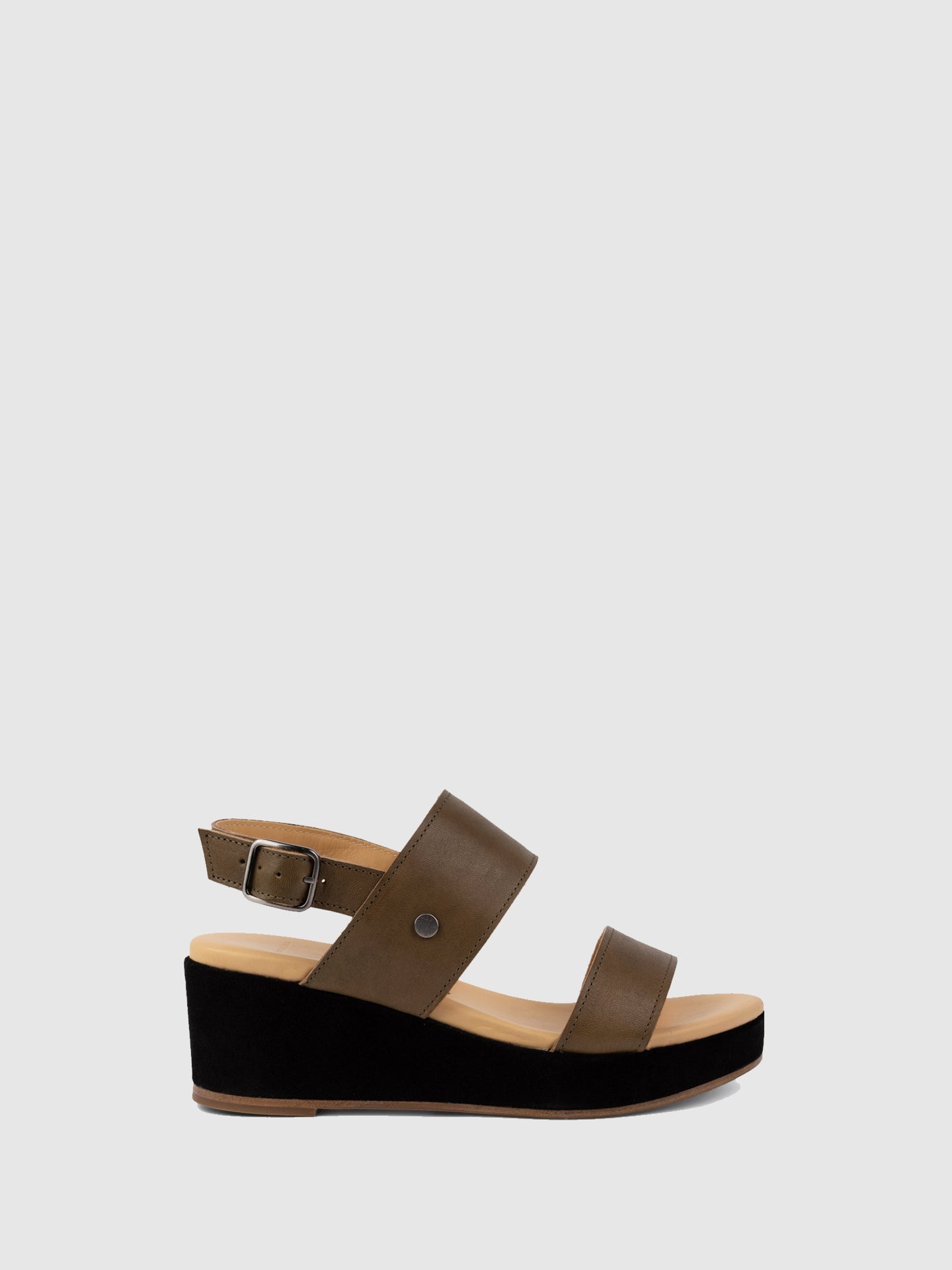Only2me SandyBrown Wedge Sandals