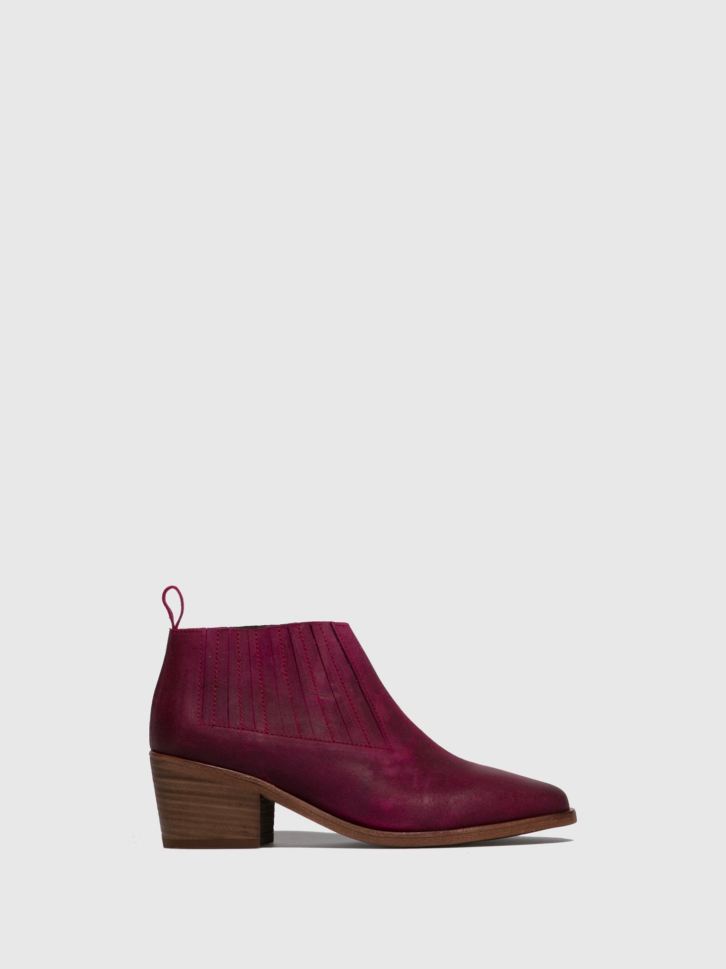 Only2me Pink Leather Elasticated Ankle Boots