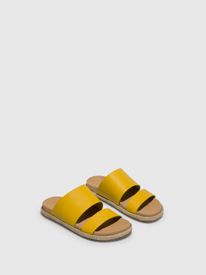 Only2me Yellow Strappy Sandals