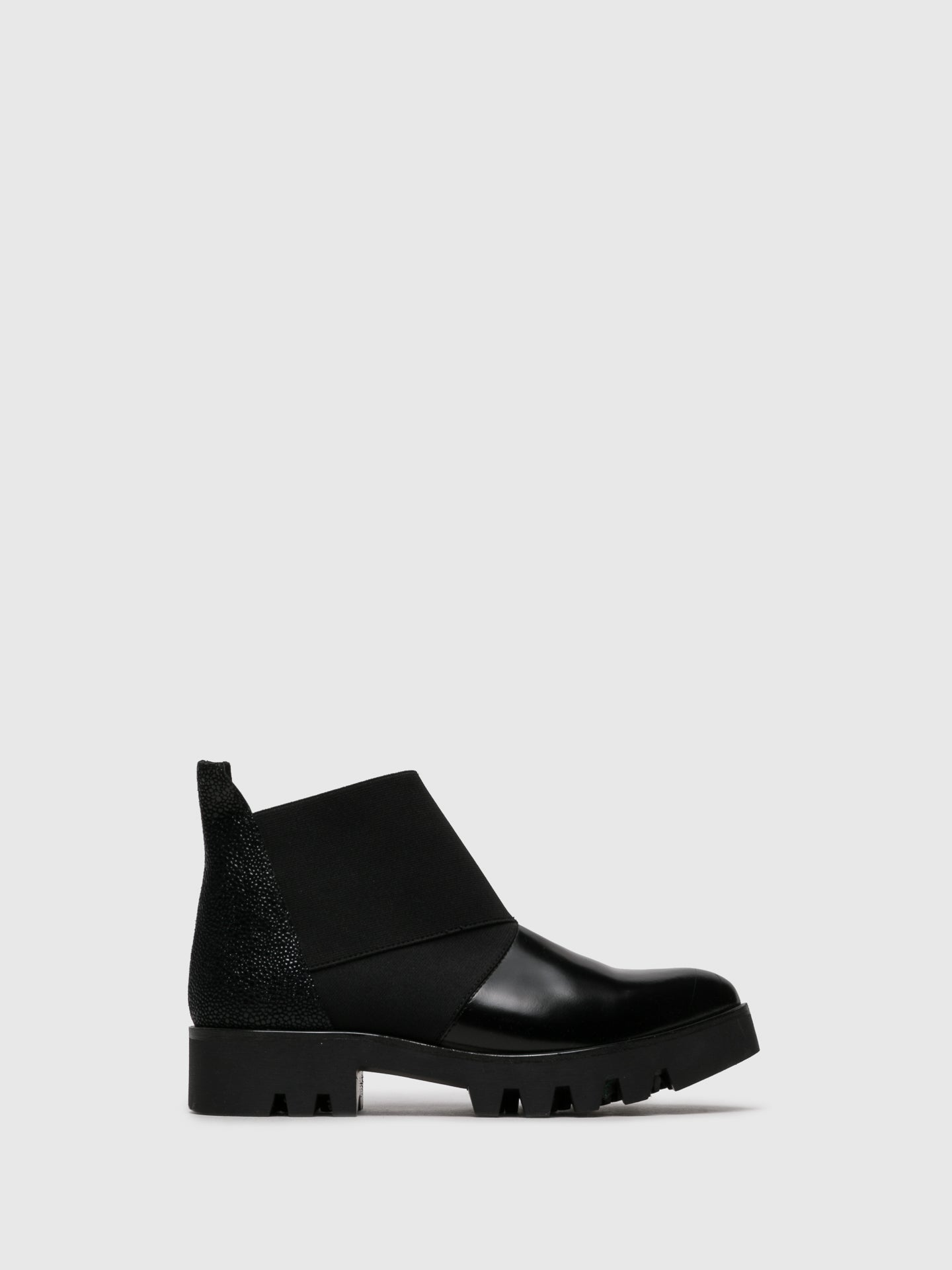 PARODI PASSION Black Elasticated Ankle Boots