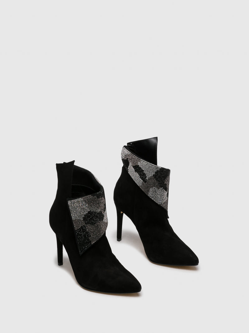 Black Stiletto Ankle Boots