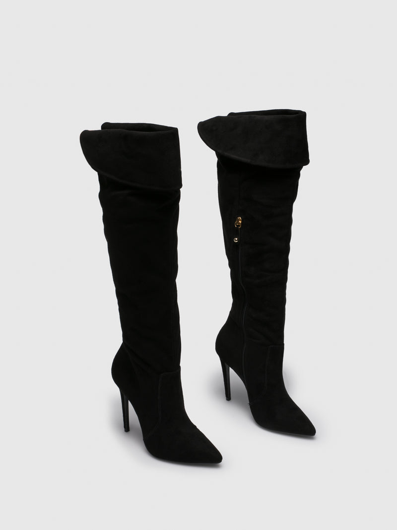 Parodi Passion Black Knee-High Boots