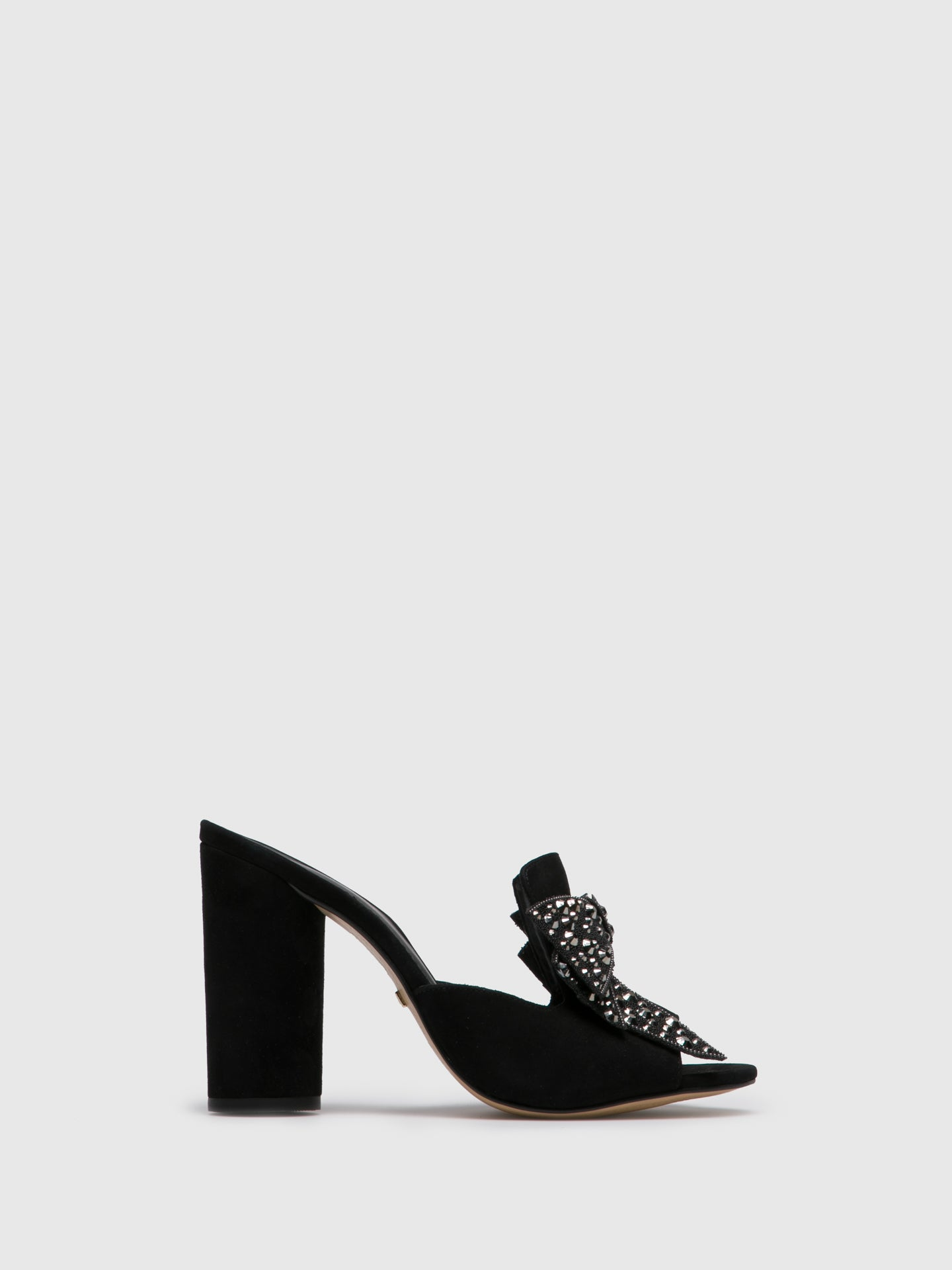 PARODI PASSION Black Appliqués Mules