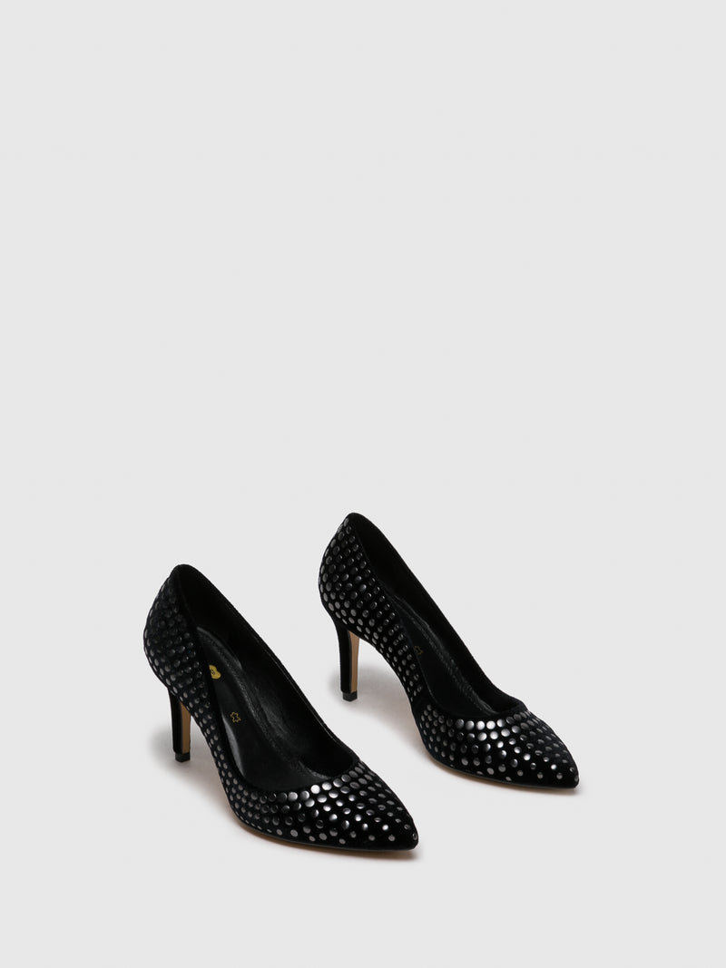 PARODI PASSION Black Appliqués Shoes