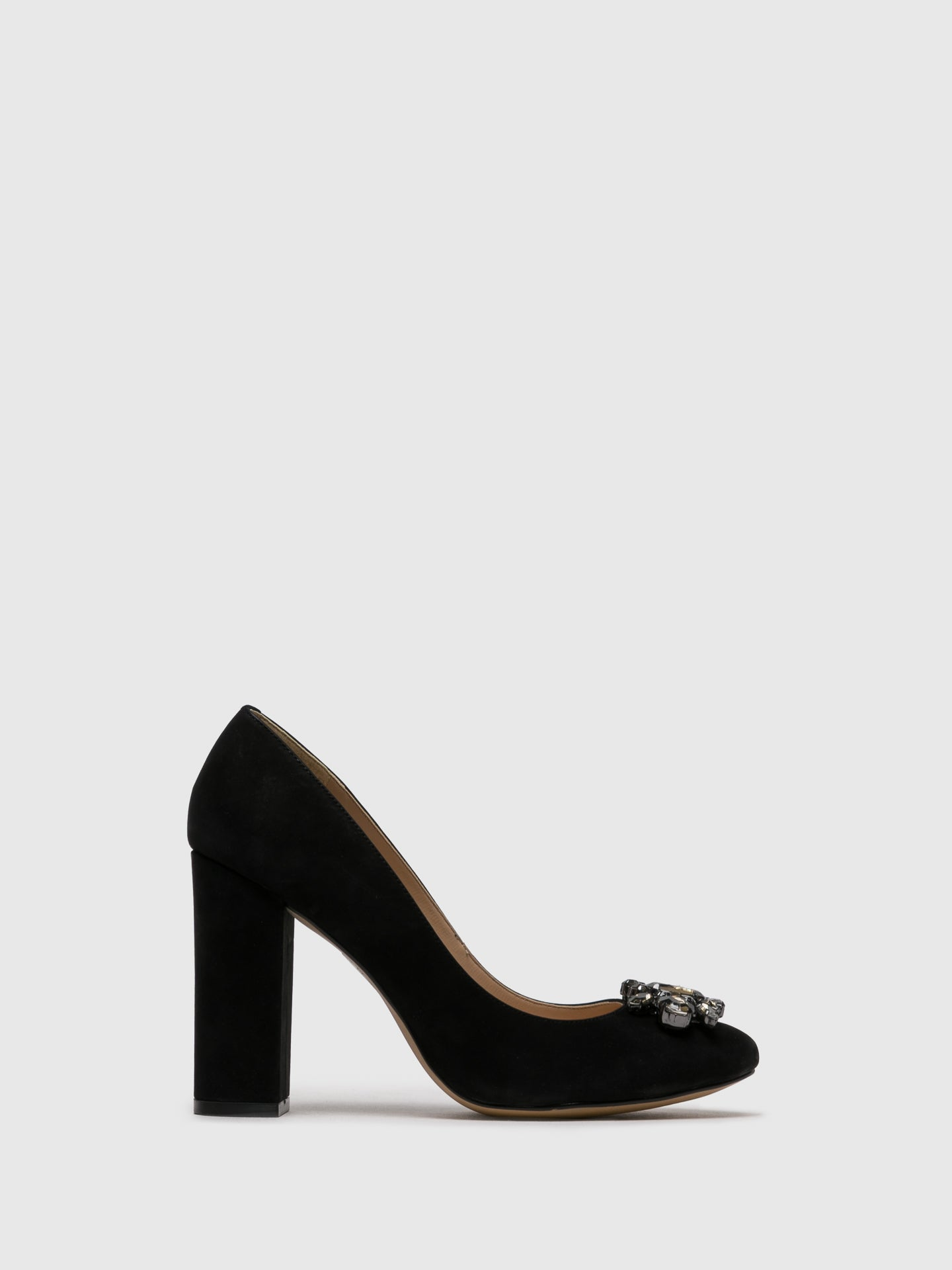 PARODI PASSION Black Round Toe Pumps
