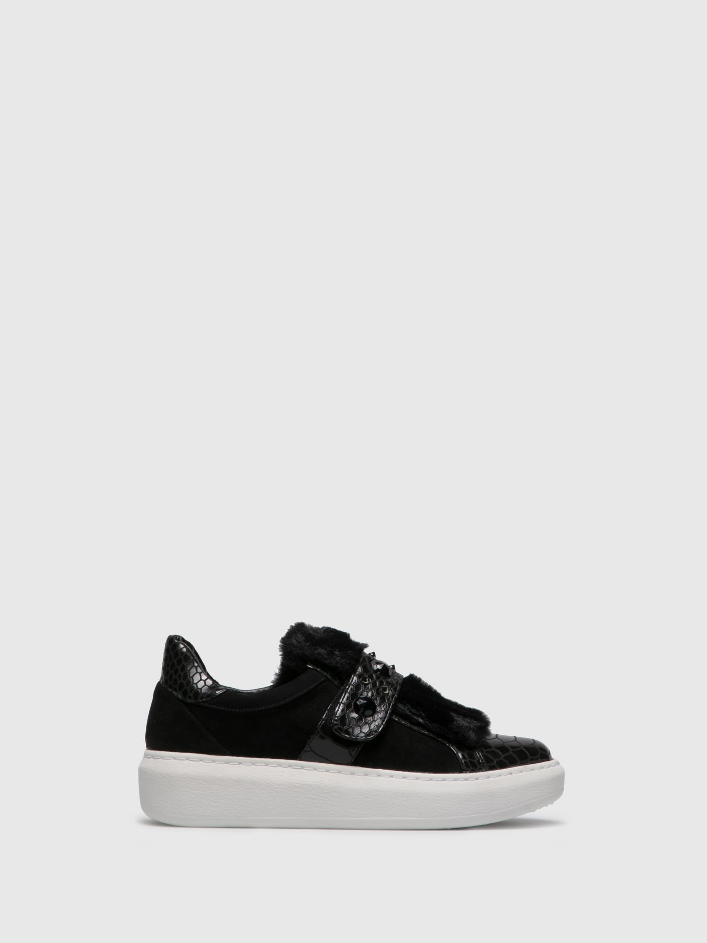 PARODI PASSION Black Slip-on Trainers