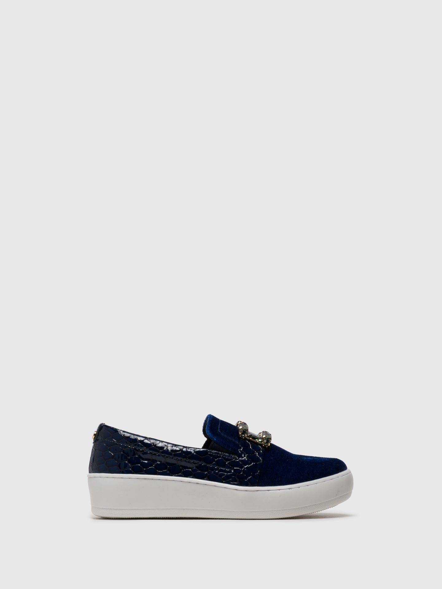 PARODI PASSION Navy Slip-on Trainers
