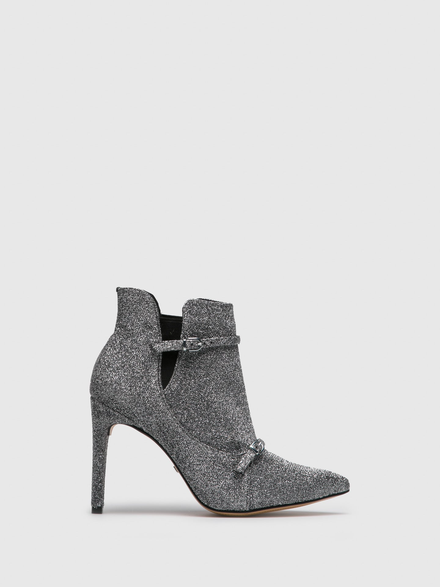 PARODI PASSION Silver Elasticated Ankle Boots