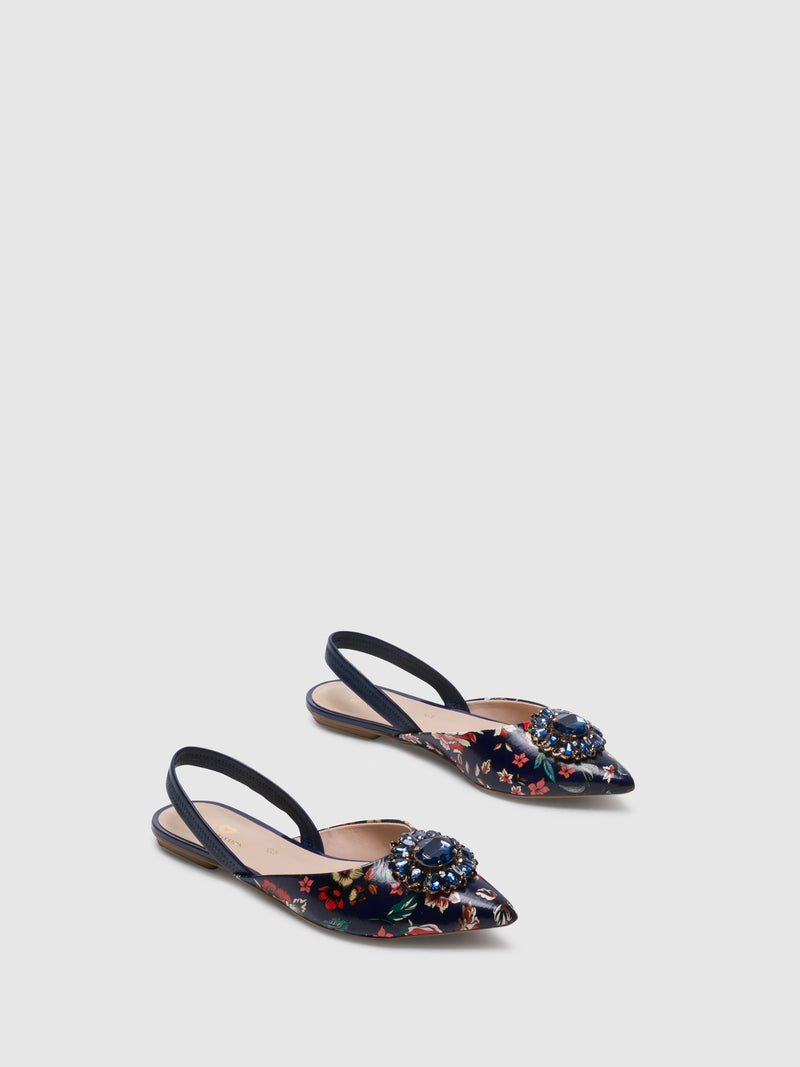 Multicolor Sling-Back Mules