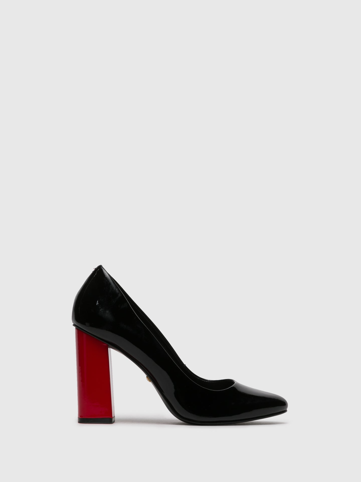 PARODI PASSION Red Black Round Toe Shoes