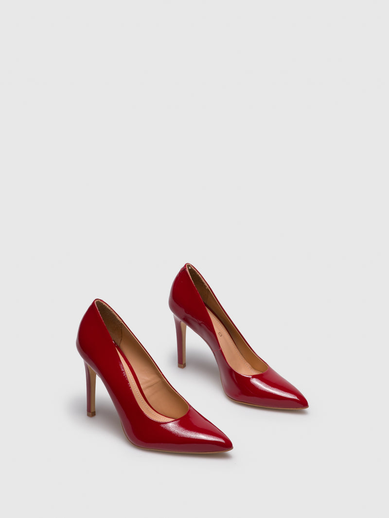 PARODI PASSION Red Pointed Toe Pumps