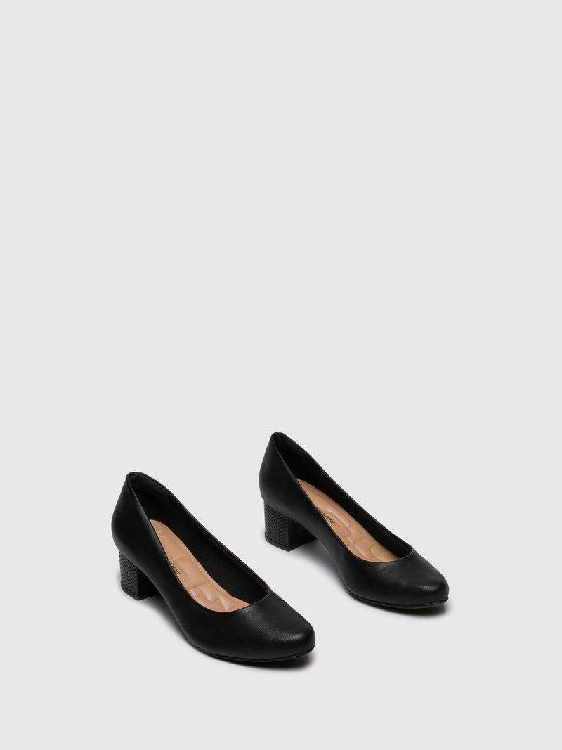 PARODI SUNSHINE Black Round Toe Shoes