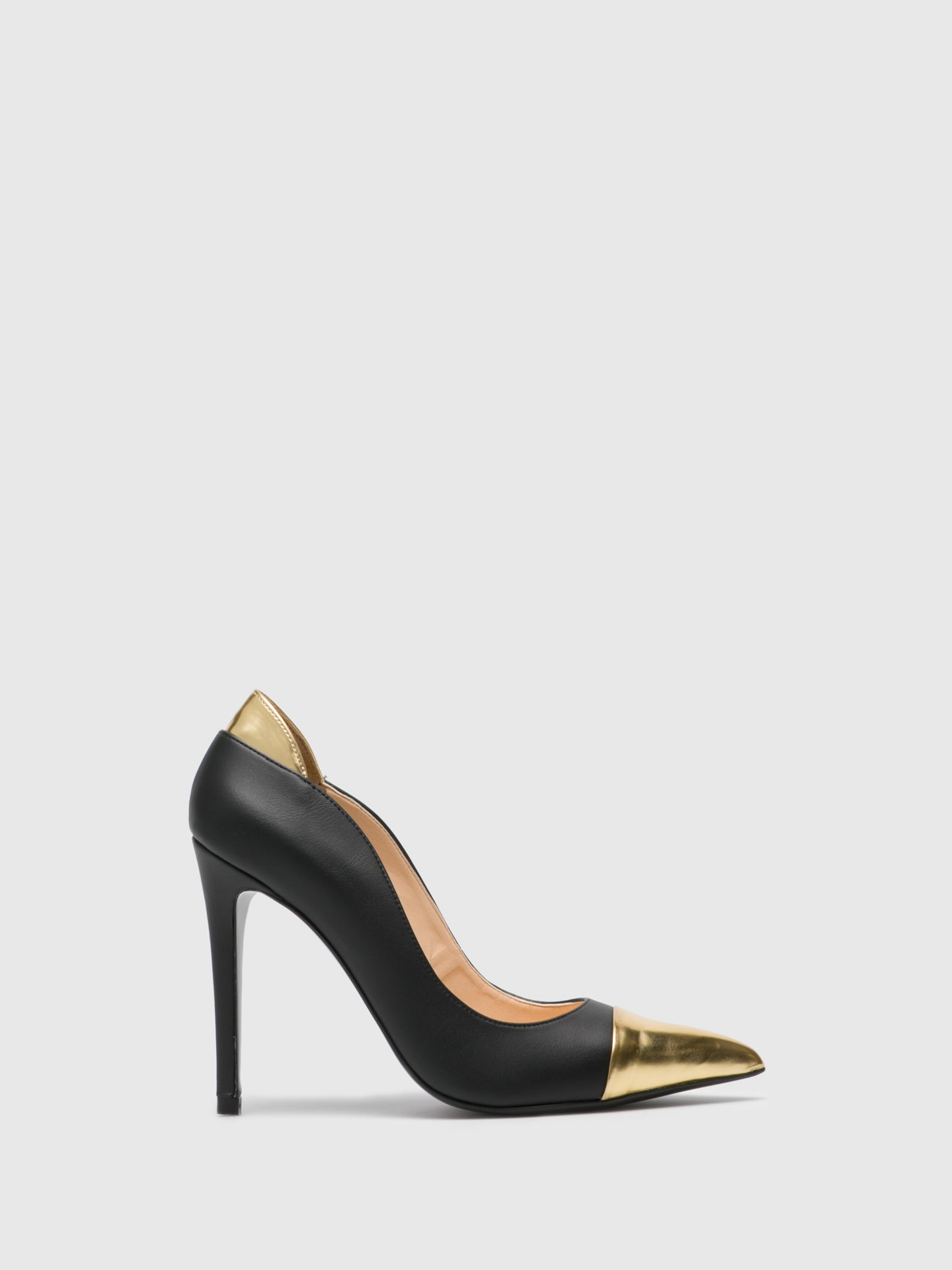 PATRICIA CORREIA Matte Black Pointed Toe Pumps