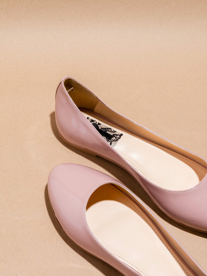 LightPink Round Toe Ballerinas