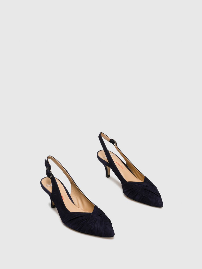 Navy Sling-Back Pumps Shoes