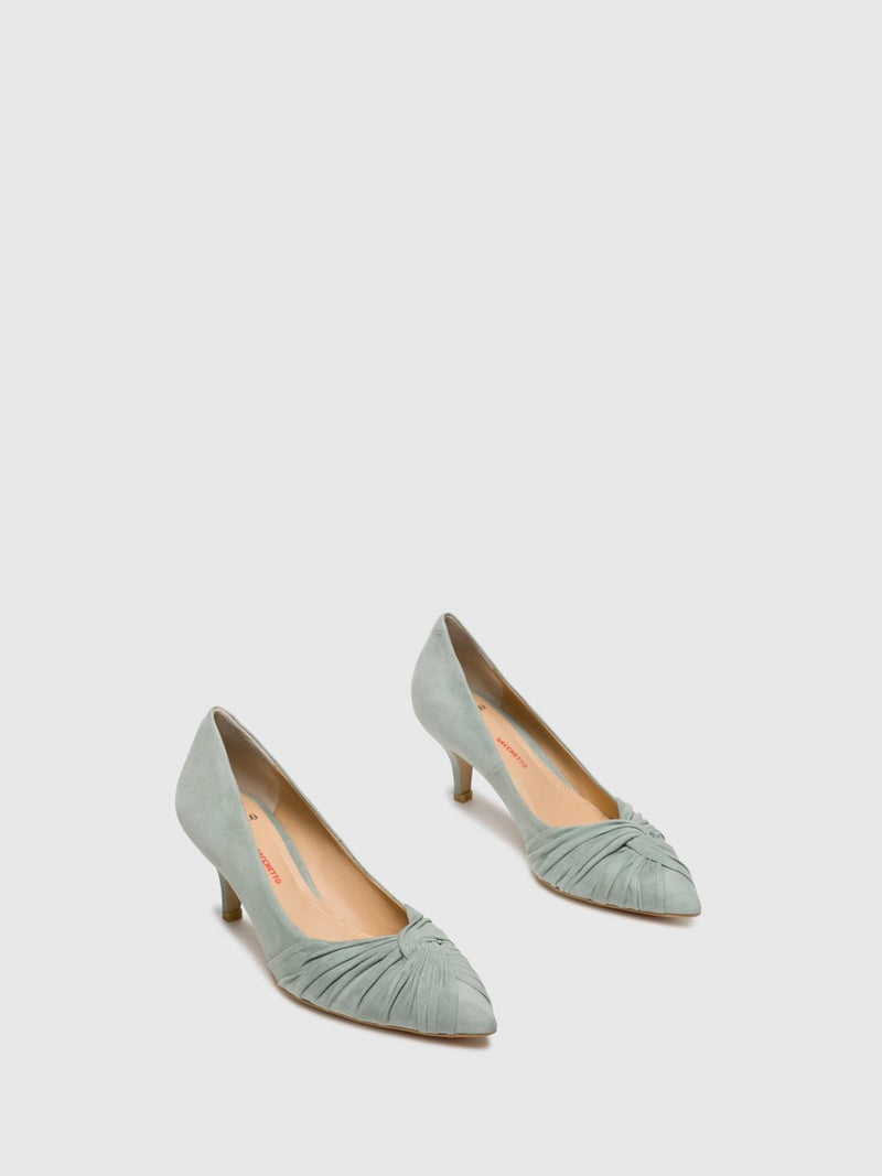 Perlato Green Sling-Back Pumps Shoes