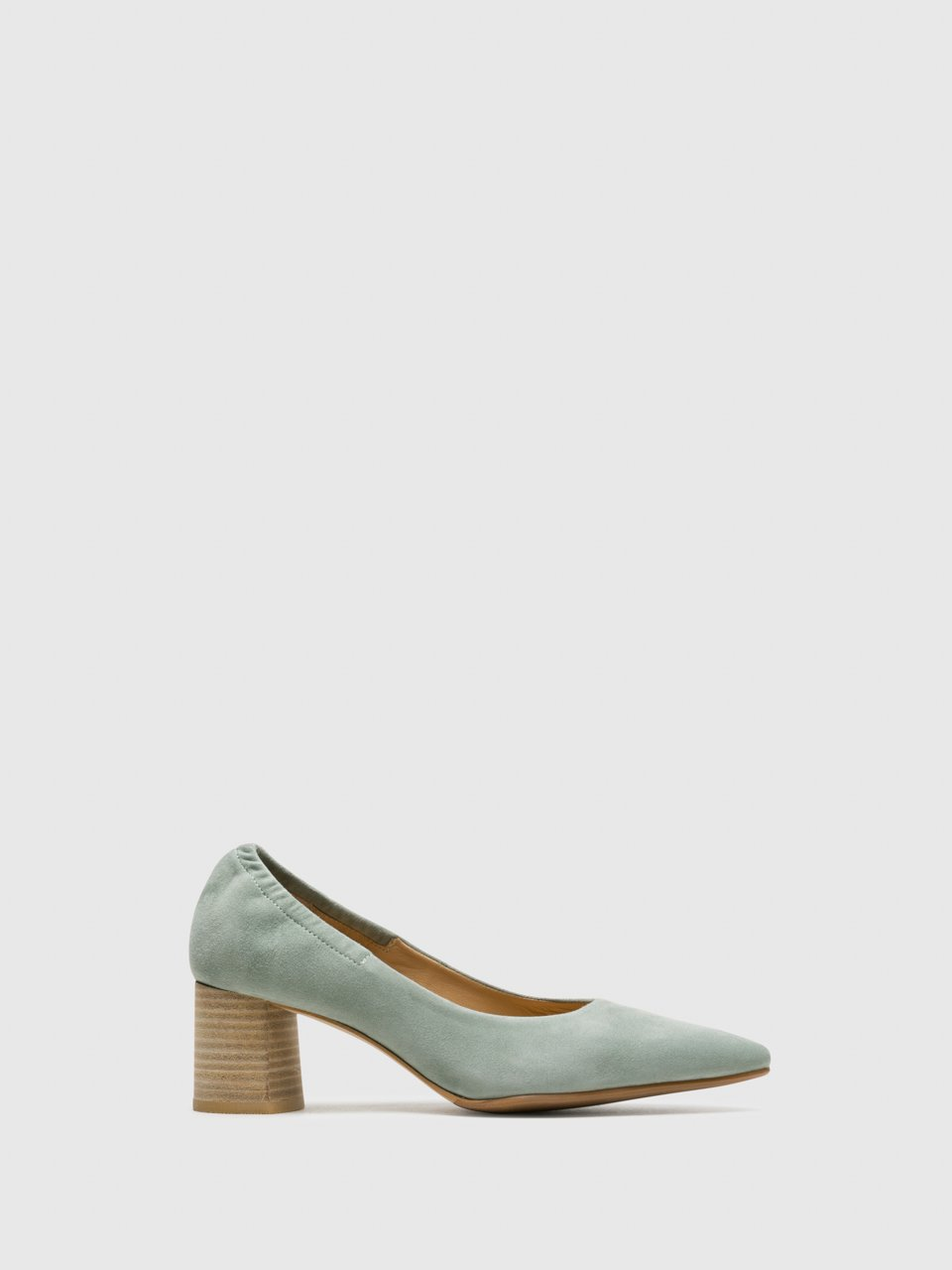 Perlato Green Round Toe Pumps Shoes