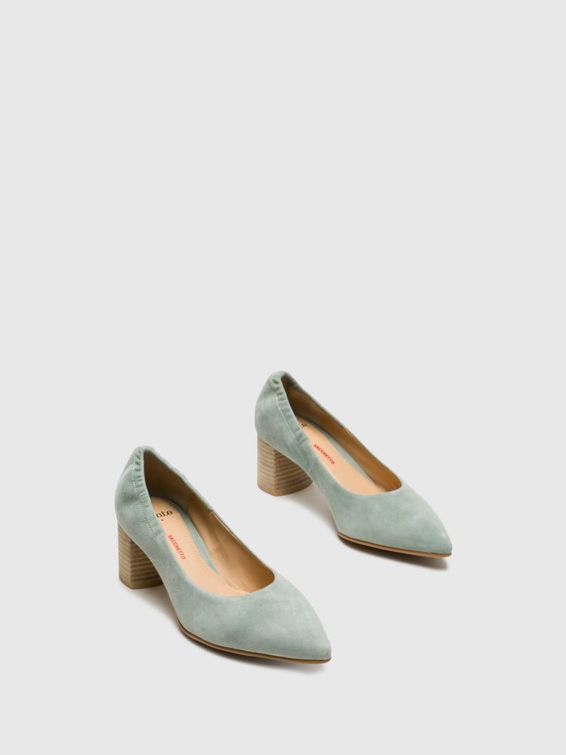 Green Round Toe Pumps Shoes