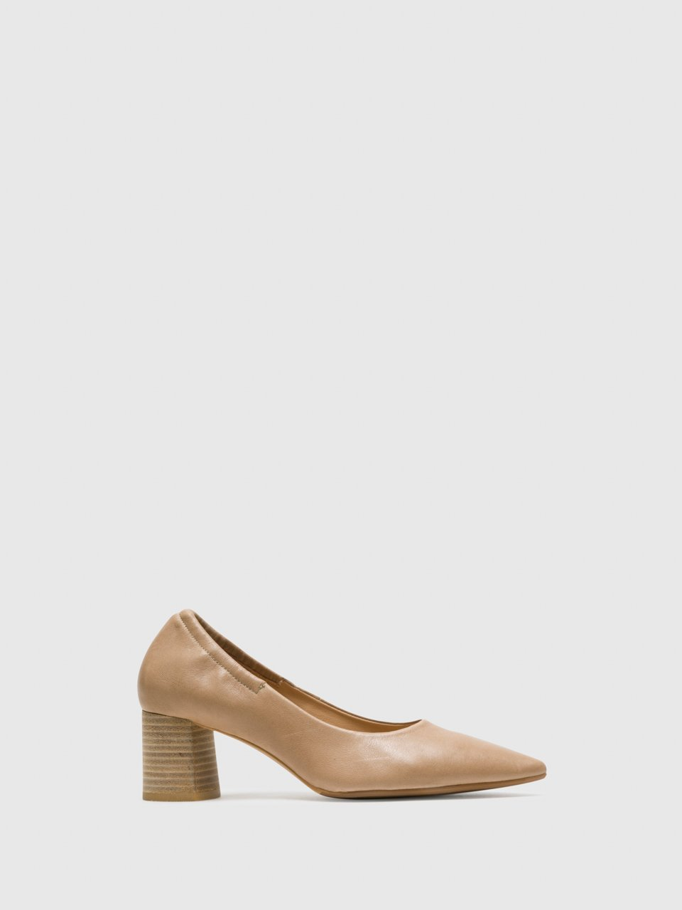 Perlato Beige Round Toe Pumps Shoes