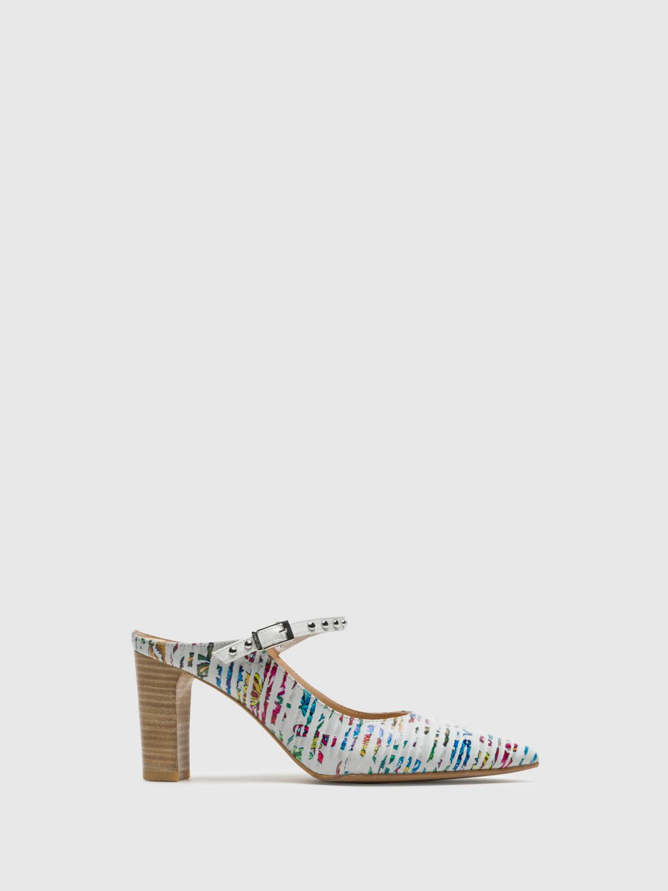 Perlato Multicolor Pointed Toe Pumps Shoes