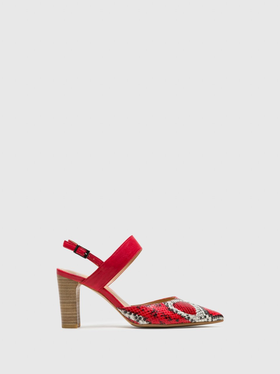 Perlato Red Sling-Back Pumps Shoes