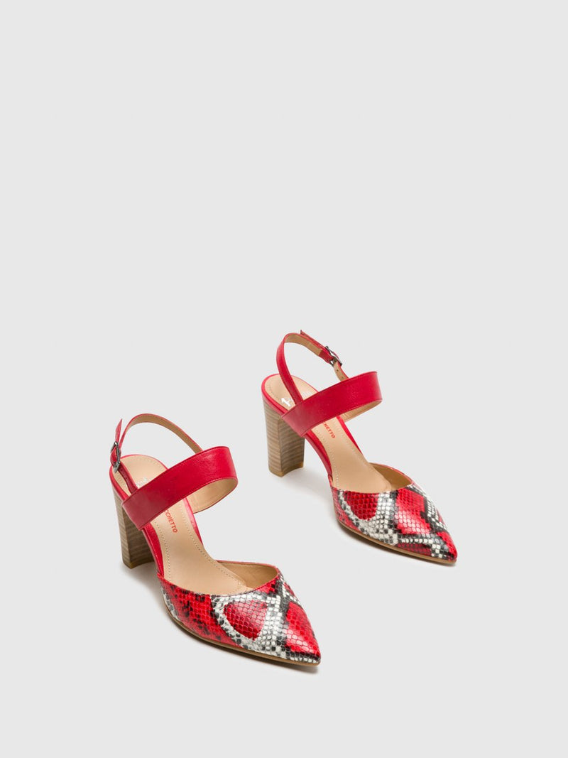 Red Sling-Back Pumps Shoes