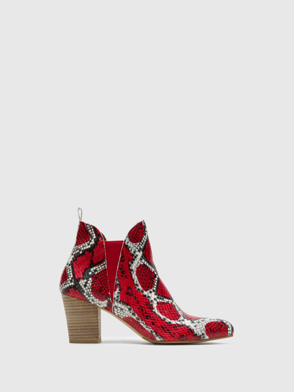 Perlato Red Elasticated Ankle Boots