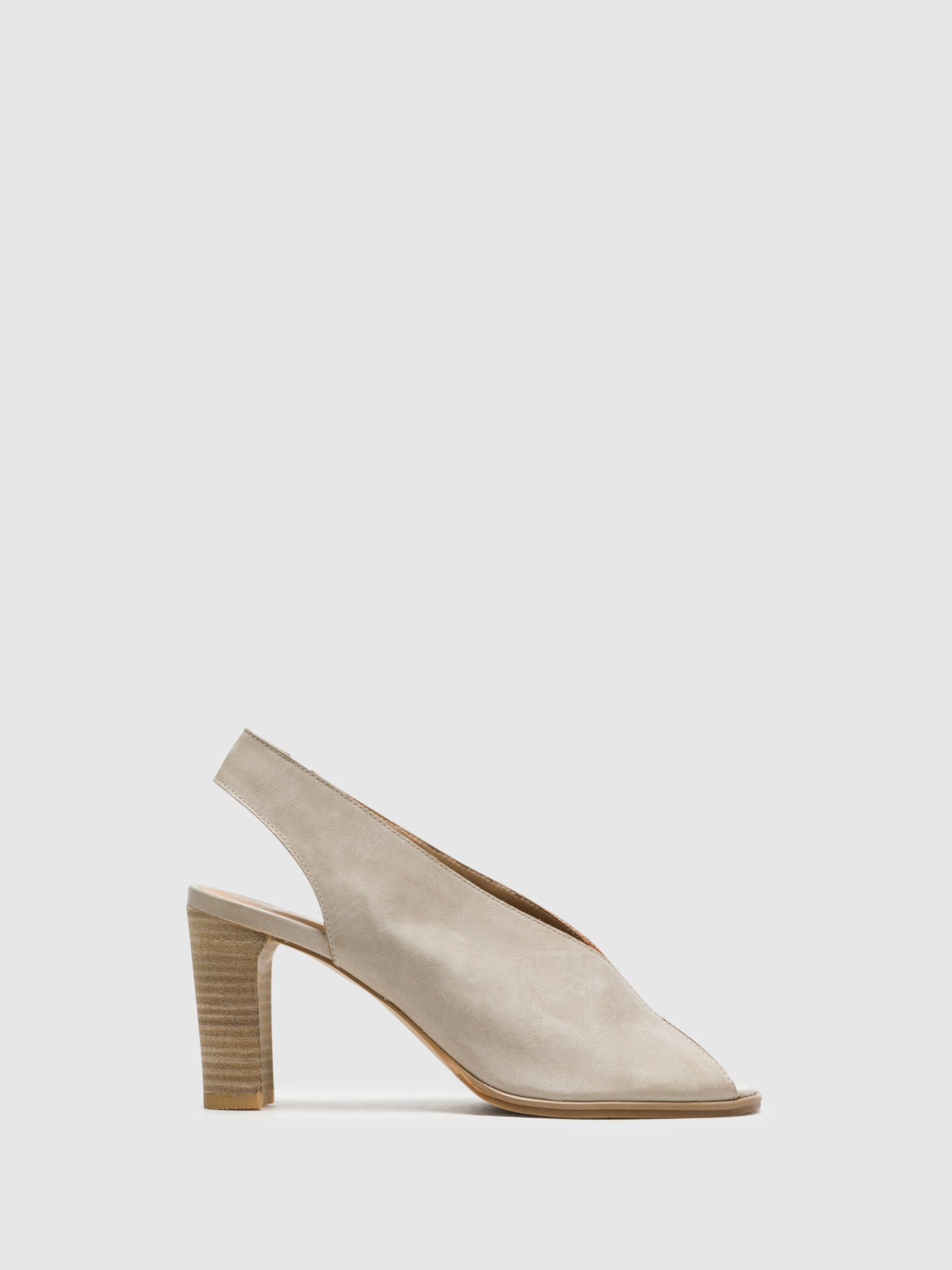 Perlato Beige Sling-Back Sandals