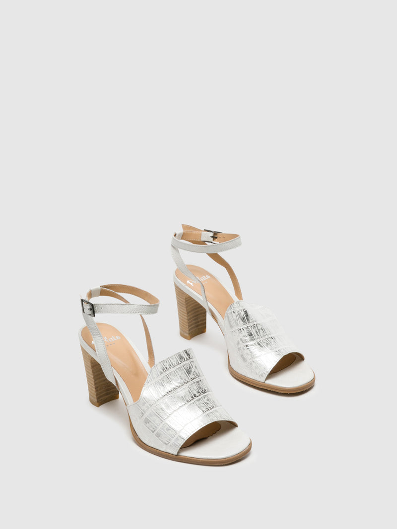 Silver Buckle Sandals
