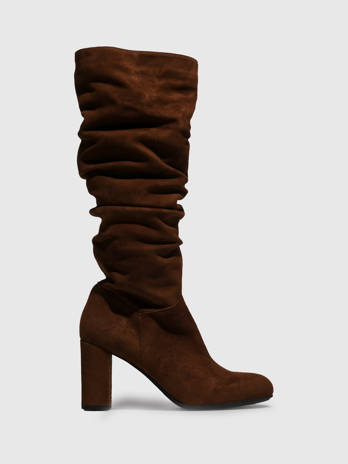Perlato Brown Zip Up Boots