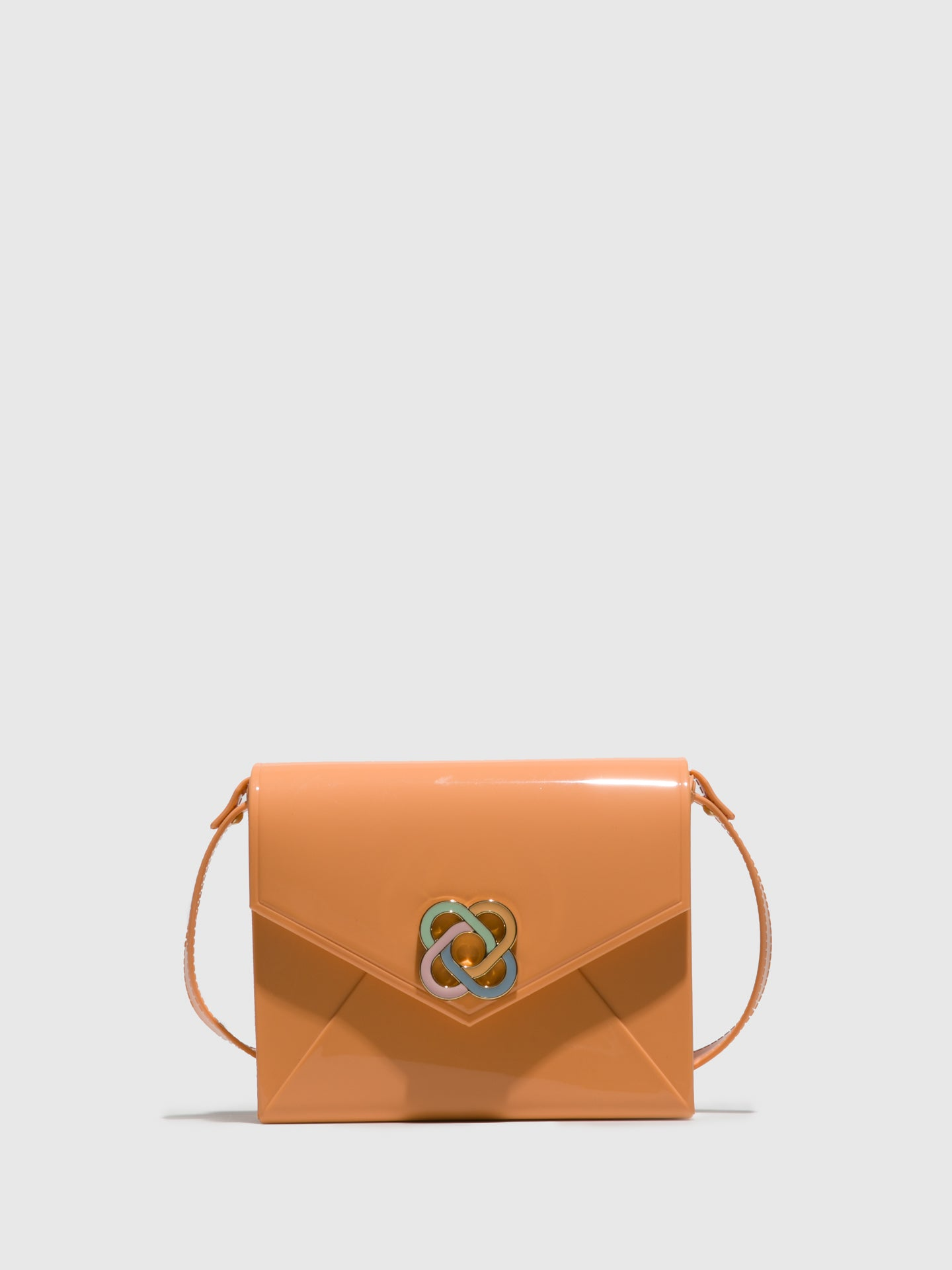 Petite Jolie By Parodi Orange Crossbody Bag