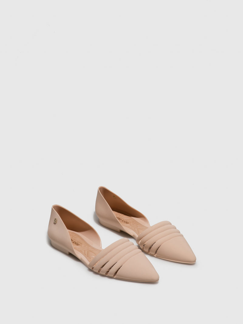 BlanchedAlmond	 Pointed Toe Ballerinas
