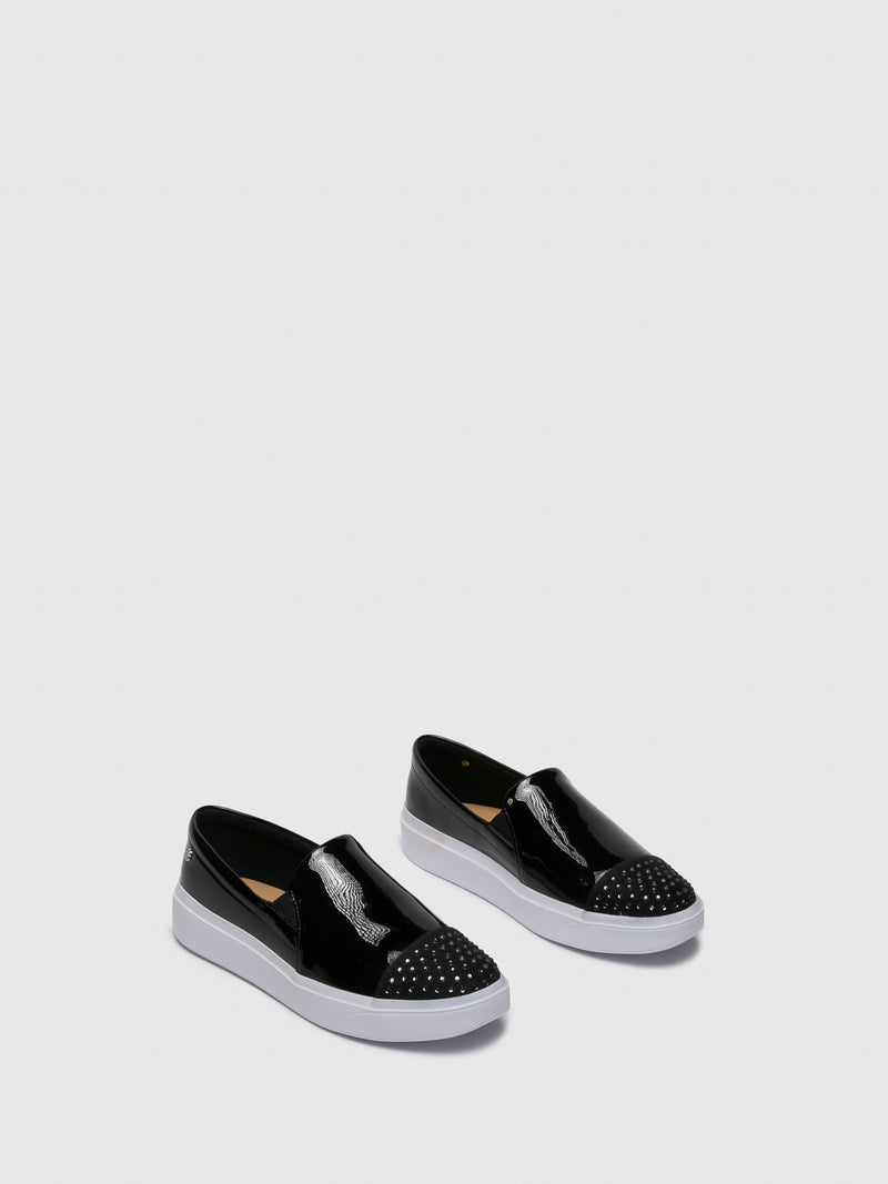Black Slip-on Trainers