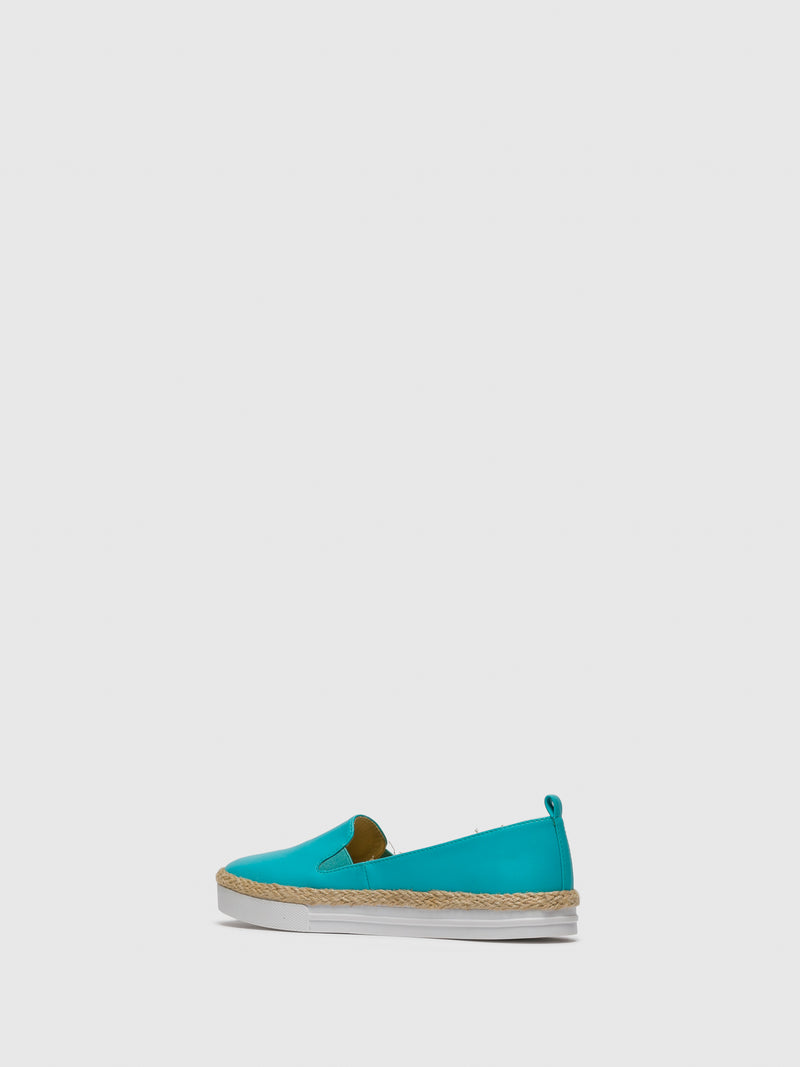 Turquoise Slip-on Trainers