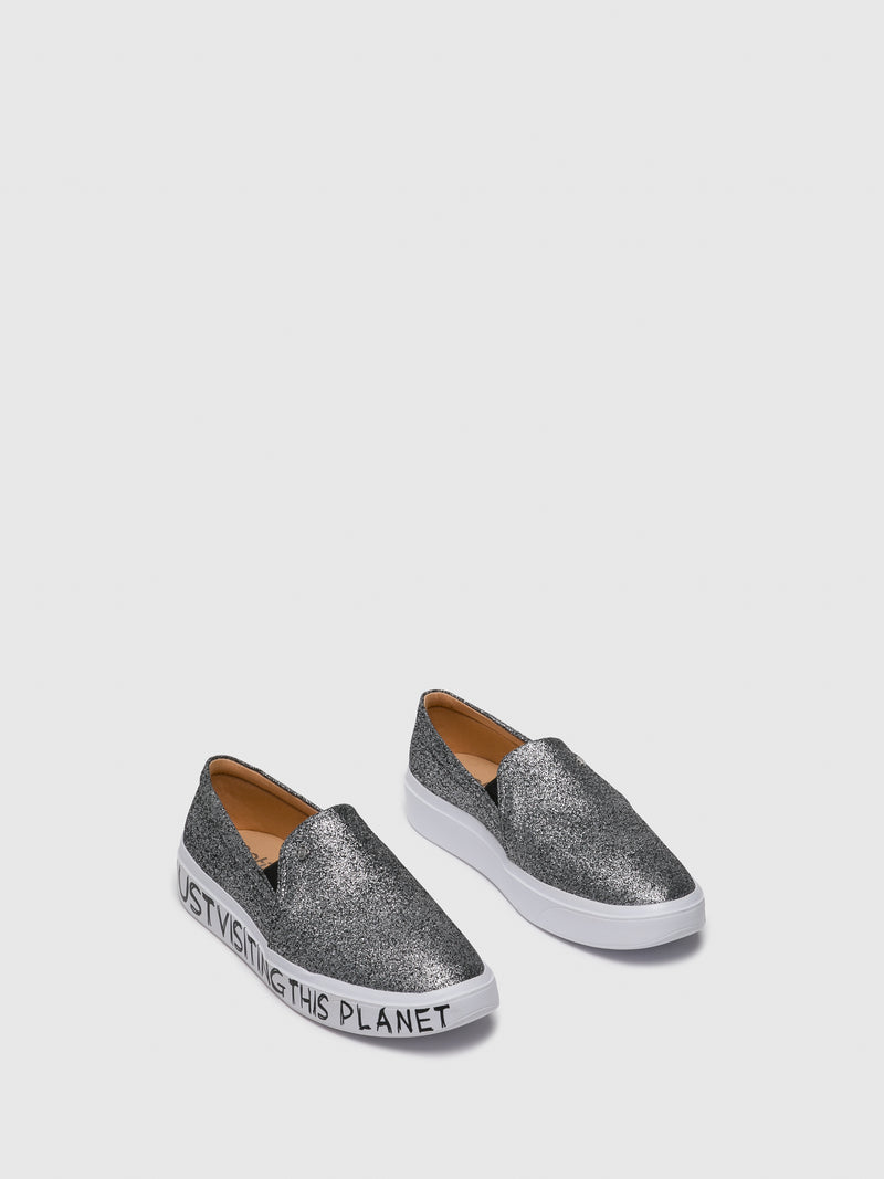Silver Slip-on Trainers
