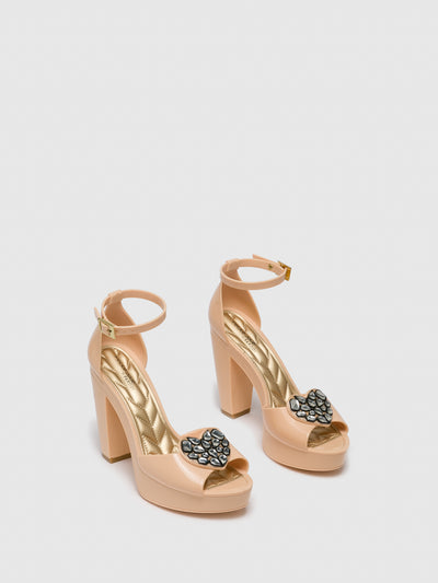PETITE JOLIE by PARODI BlanchedAlmond	 Sling-Back Pumps Sandals