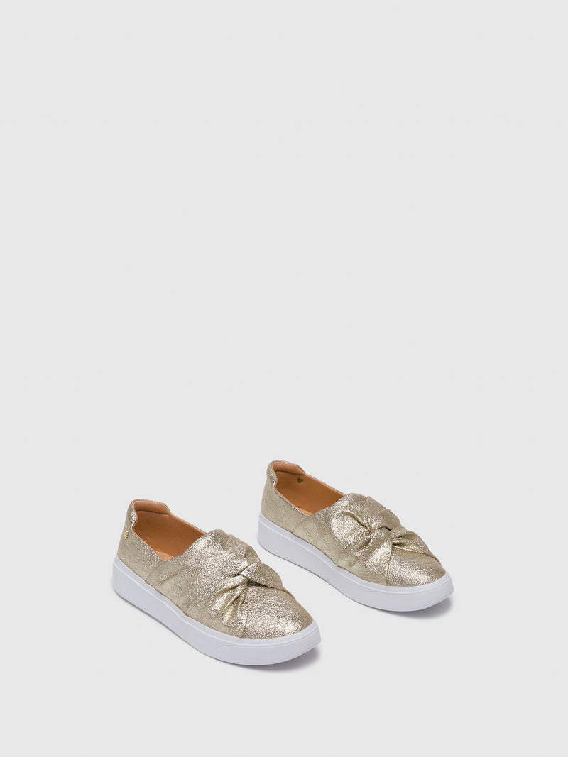 Gold Slip-on Trainers