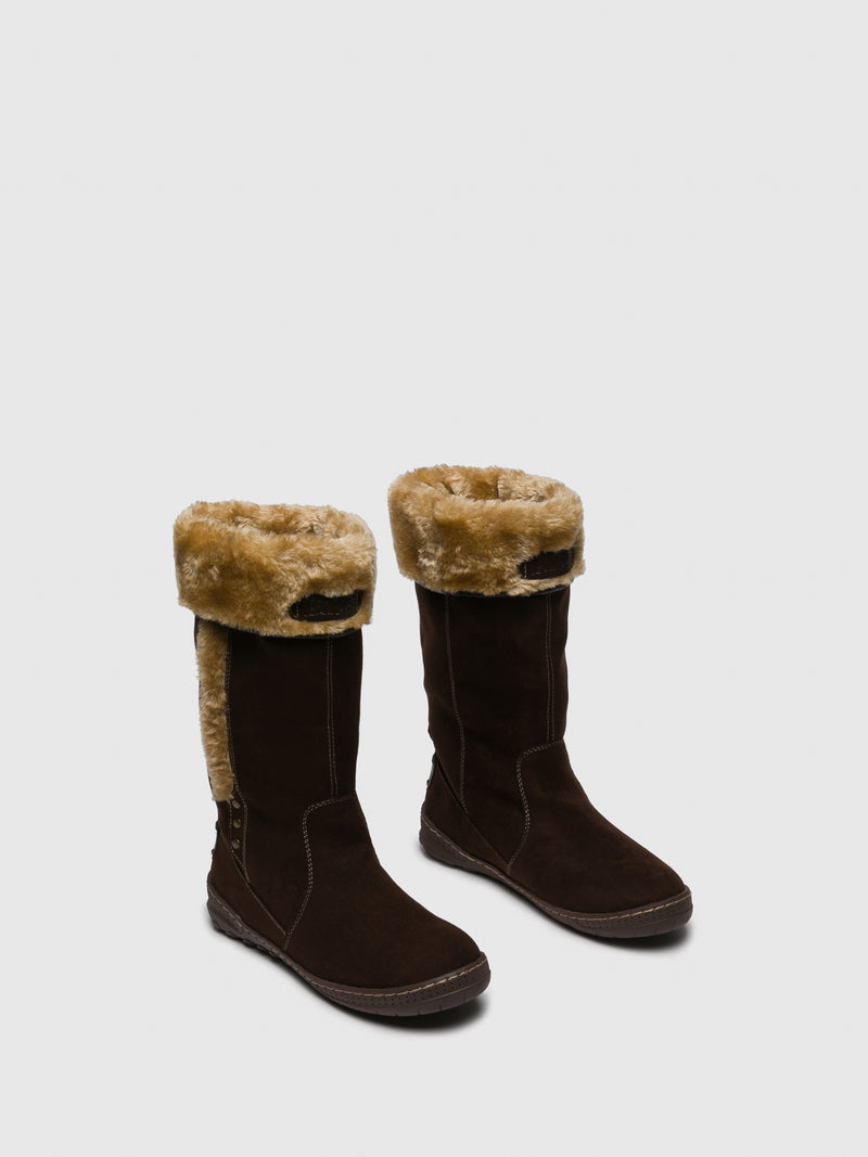 Chocolate Fleece Boots