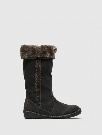 PIXIE Gray Fleece Boots