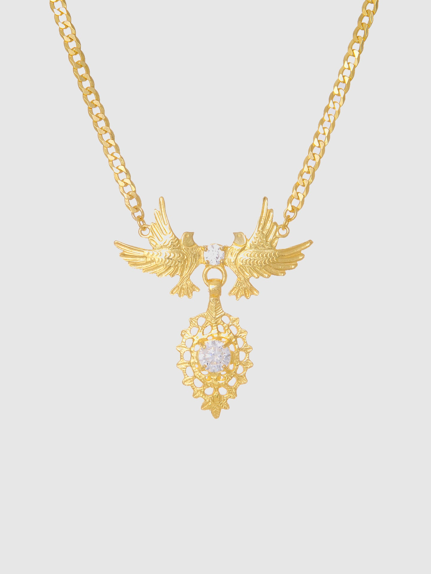 Portugal Jewels White Stones Dove Queen Necklace