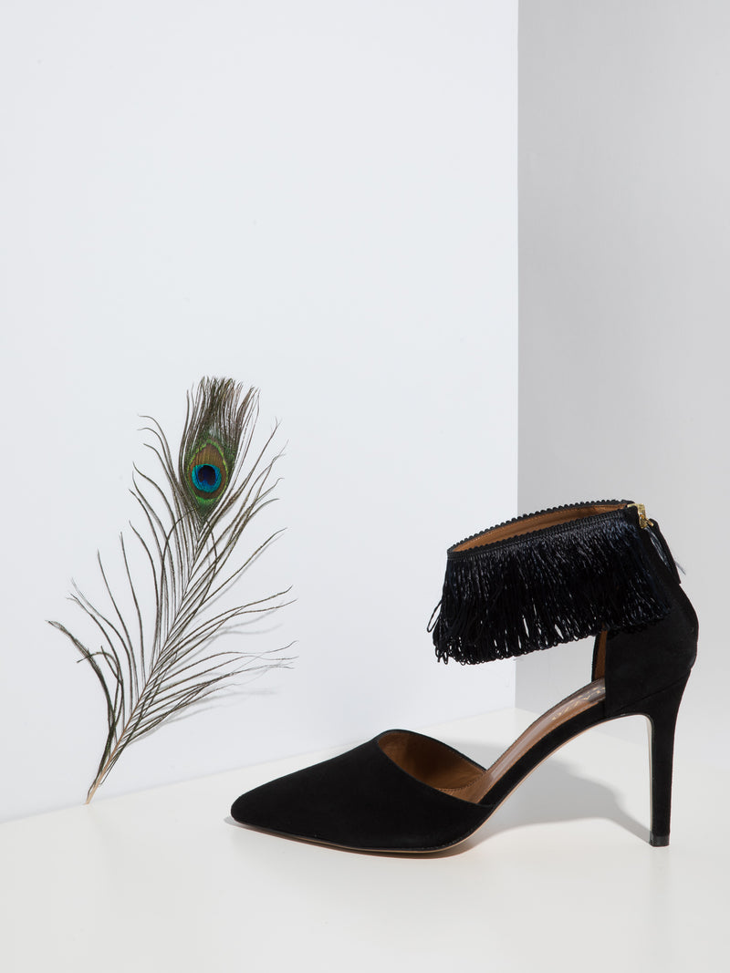 Palazzo VII Black Stiletto Shoes
