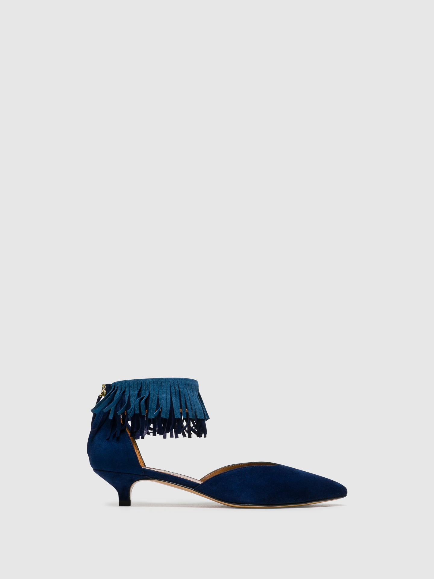 Palazzo VII Blue Kitten Heel Shoes